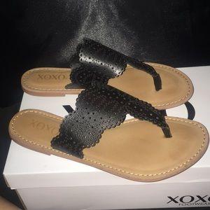 XOXO Black Sandal